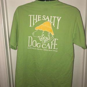 Salty Dog Cafe green t-shirt